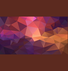 Irregular polygon background purple orange red vector