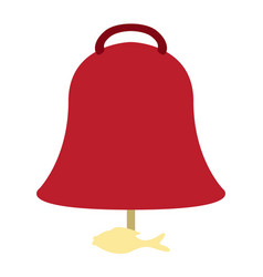 isolated asian style bell vector image