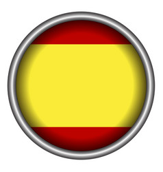isolated spanish flag8 vector image