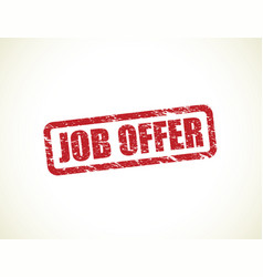 job offer stamp vector image