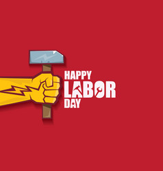 labor day usa label or banner background vector image