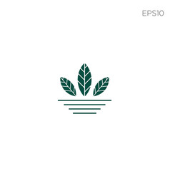 leaf nature environment logo icon or symbol vector image
