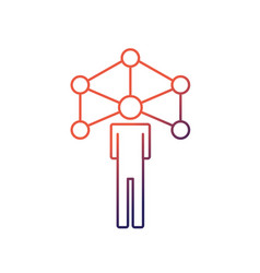 line people global connection to social network vector image
