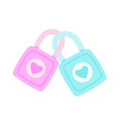lock is lock together lock love is lock vector image