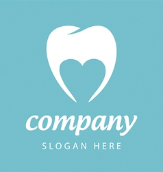 Logo dental company vector