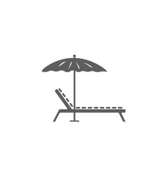 lounger icon vector image