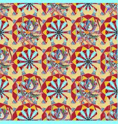 Mandala logo flower on colorfil gradient premium vector