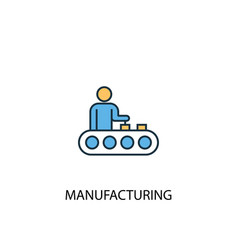 Manufacturing concept 2 colored line icon simple vector