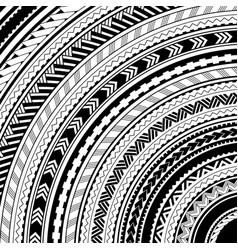 maori style ethhnic ornaments vector image