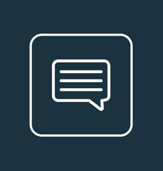 message icon line symbol premium quality isolated vector image