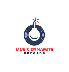 music dynamite concept design template vector image