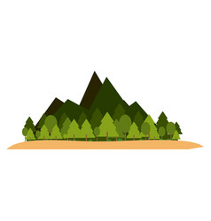nature landscape scenery vector image