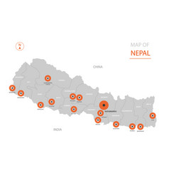 nepal map with administrative divisions vector image