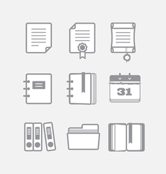 Office documents icons set vector