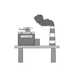 Oil platform icon black monochrome style vector image