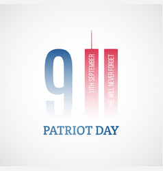 patriot day banner we will never forget vector image