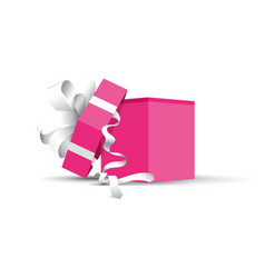 pink opened present vector image