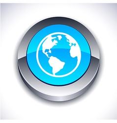 Planet 3d button vector