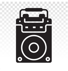 Portable speaker active flat icon for apps vector