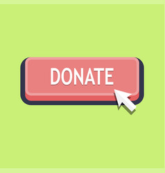 pressing donate button vector image