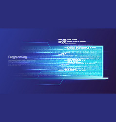 programming software development coding concept vector image