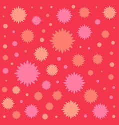 Red flowers flat icon colorful background vector