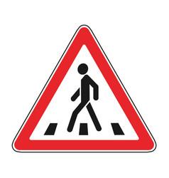 roadsigns on the white crosswalk vector image