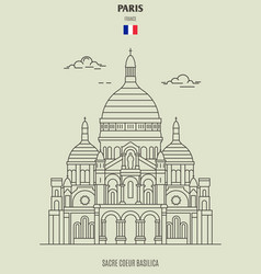 sacre coeur basilica in paris vector image