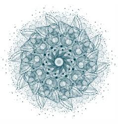 Sacred geometry cosmic mandala vector