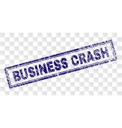 scratched business crash rectangle stamp vector image