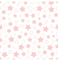 Seamless pattern of pink pentagonal stars vector