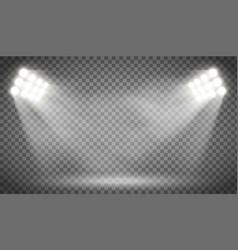 Searchlight illuminates the blank backdrop vector