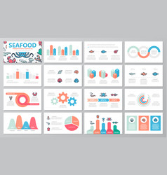 Set fish and sea food elements for multipurpose vector
