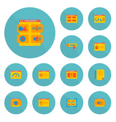 Set of website icons flat style symbols with vector