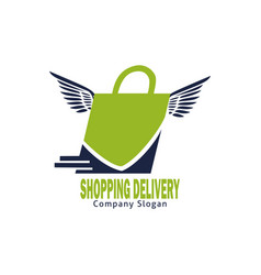 shopping delivery logo vector image