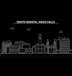 Sioux falls silhouette skyline usa - sioux falls vector