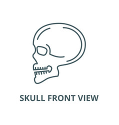 skull front view line icon linear concept vector image