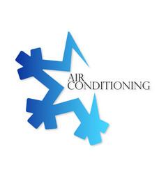 Snowflake air conditioner symbol vector