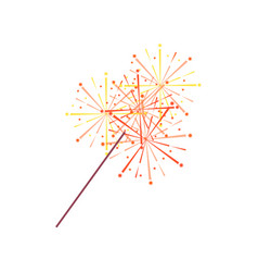 Sparkler or bengal light isolated icon vector