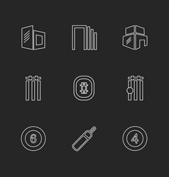 Sports games atheletes eps icons set vector