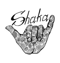 surfing symbol shaka vector image