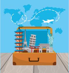 travel briefcaseto global international journey vector image