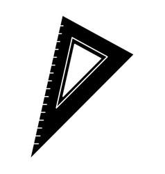 Triangle ruler utensil pictogram vector