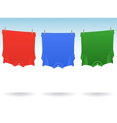TShirts clothesline vector image