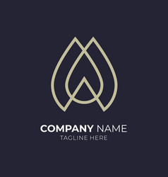 water drop letter m logo vector image