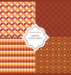 autumn seamless patterns autumn seamless vector image