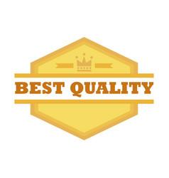 best quality shield emblem vintage badge graphic vector image