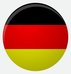 Germany flag icon flat vector image vector image