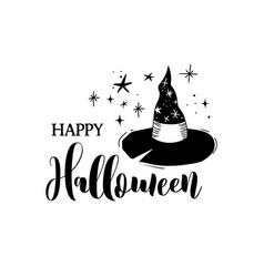 happy halloween banner card label vector image