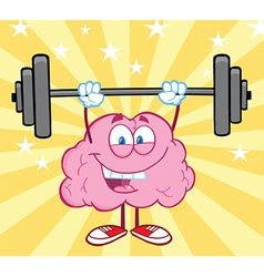 Healthy brain food cartoon vector image vector image
